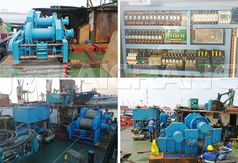 12 Ton Hydraulic Winch Installation