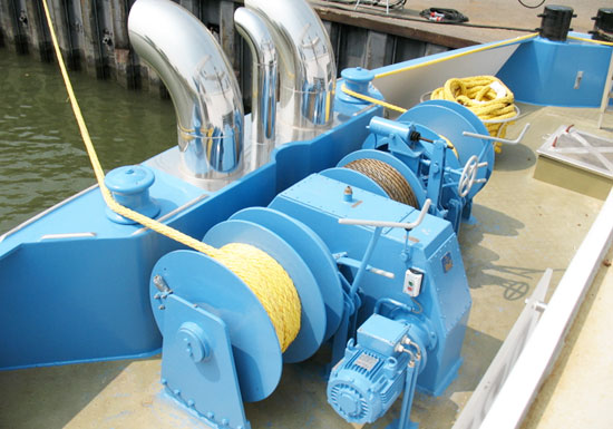 Three Drum Mooring Winch