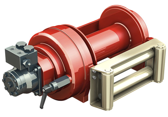 Hydraulic Winch for Construction