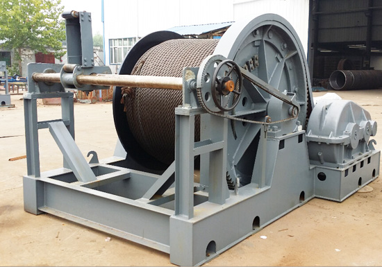 Electric Winch With Rope Guide