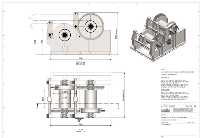Waterfall Winch Design