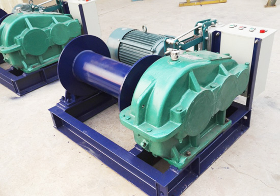 2T fast speed electric winch for Russia client