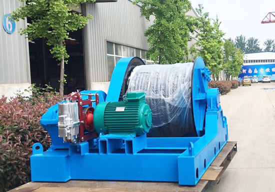 20 tons slow speed electric winch shipped to Pakistan