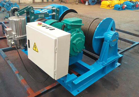 High Speed Winch In Construction
