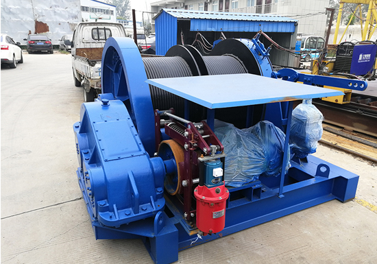 JM Electric Winch With Double Drum for Sale