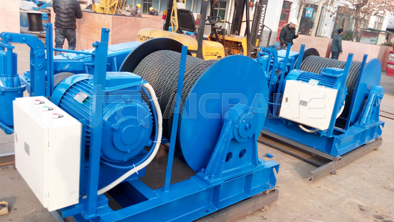JM 8 Ton And 10 Ton Electric Winches to UAE