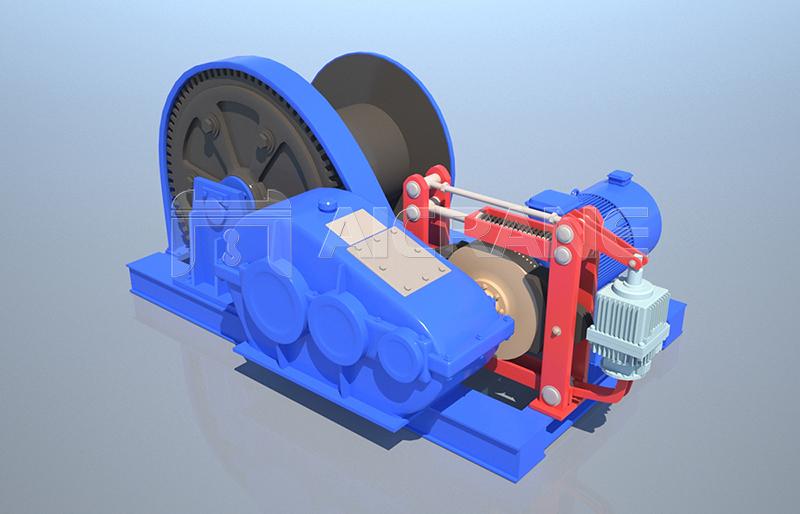 Heavy Duty Electric Winch Design