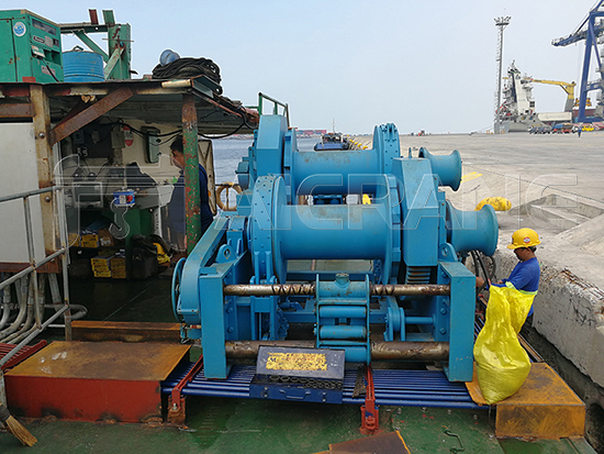 Double Drum Winch For Positioning