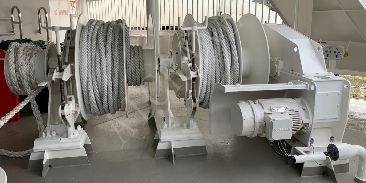 Double Drum Electric Mooring Winch For Sale