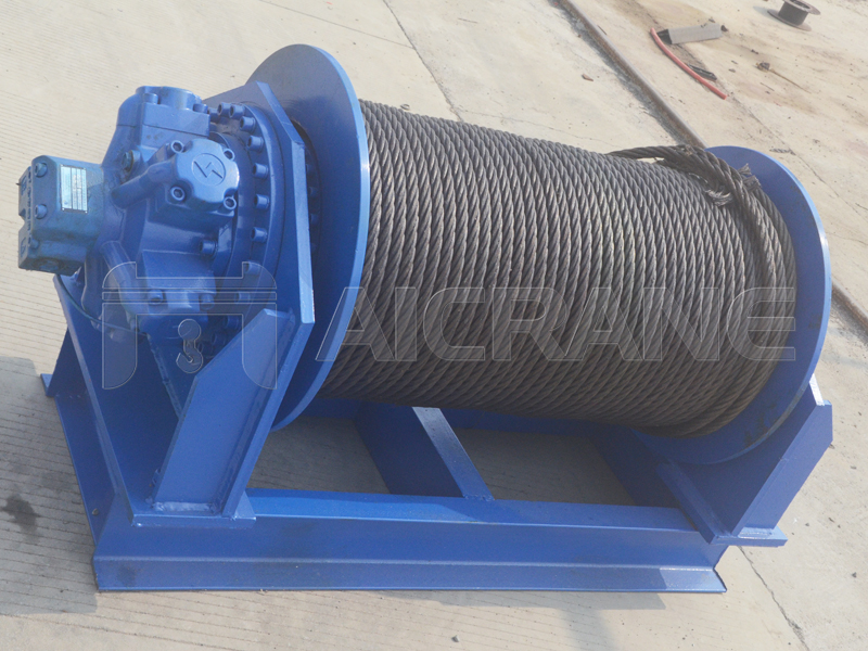 Hydraulic Winch For Horizontal Pulling