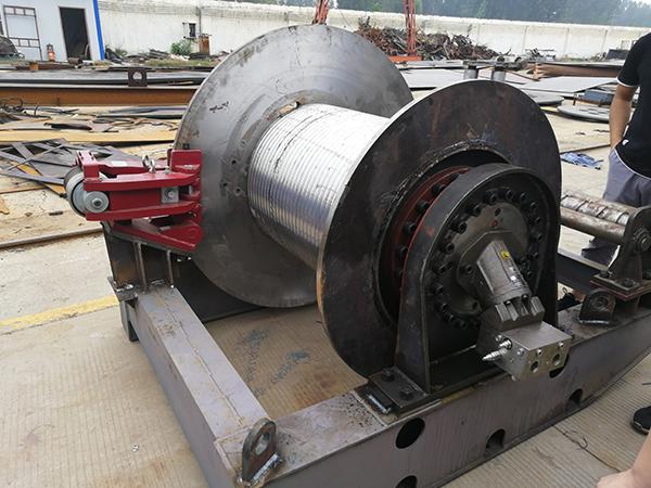 Industrial Hydraulic Winch System