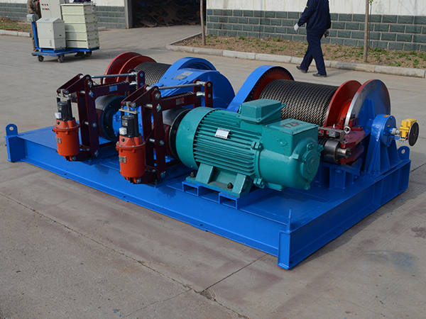Double Drum Winch With Drum Disc Brake