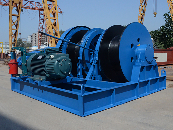 Double Drum Winch With Clutch
