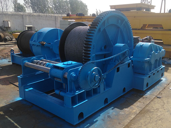 Electric Winch With Rope Guider