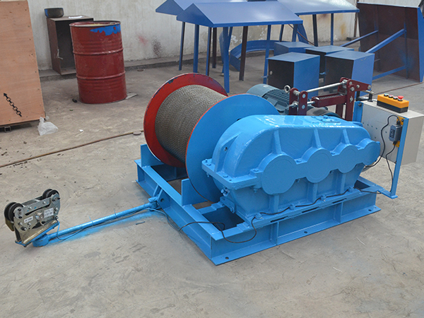 Electric Winch With Rope Length And Tension Display