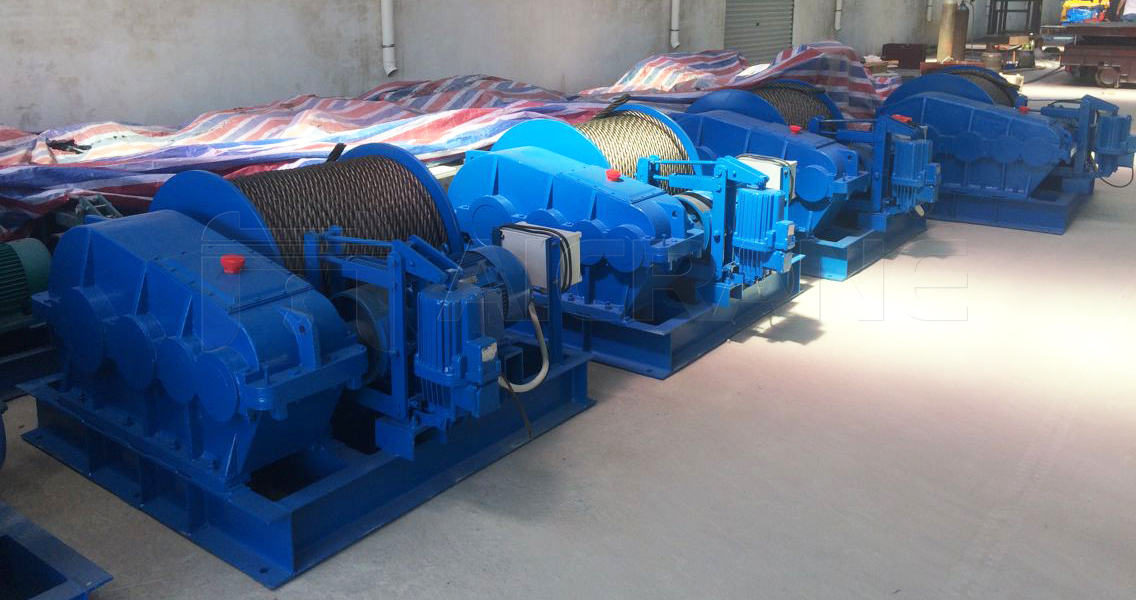 4 Sets of 5 Ton Electric Winches For Sale Indonesia